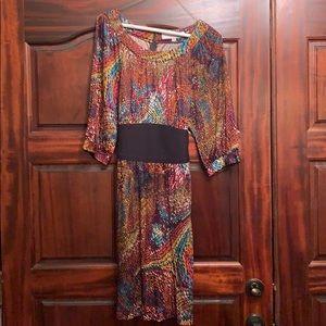 Trina Turk multi colored belted dress